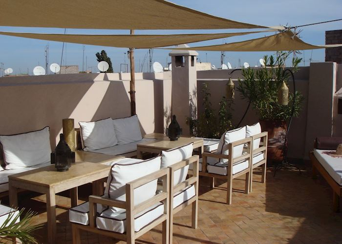 Seating Area on Roofterrace, Riad Al Massarah