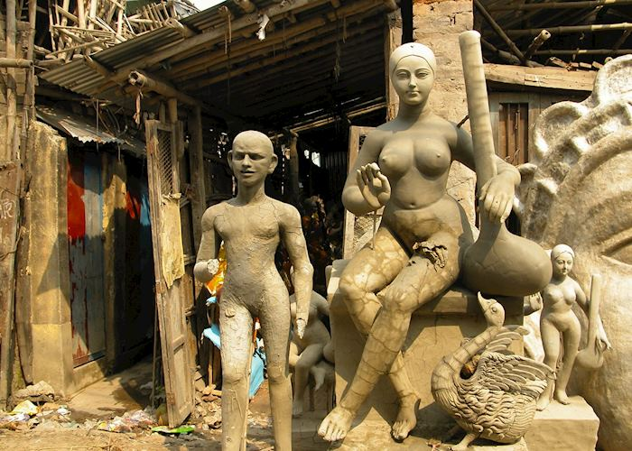 Religious sculptures on Potters Lane, Calcutta