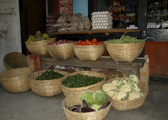 Vegetable shop, Trashigang, Bhutan