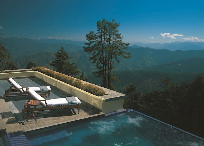 Infinity pool, Wildflower Hall, Shimla, India
