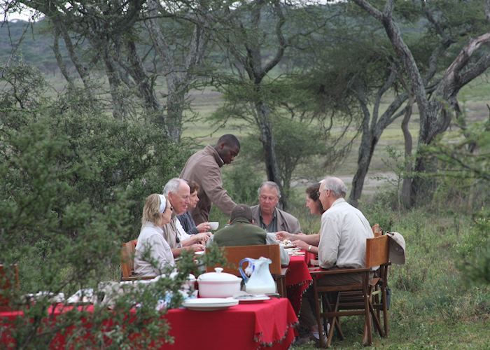 Bush breakfast, Lemala Serengeti Camp