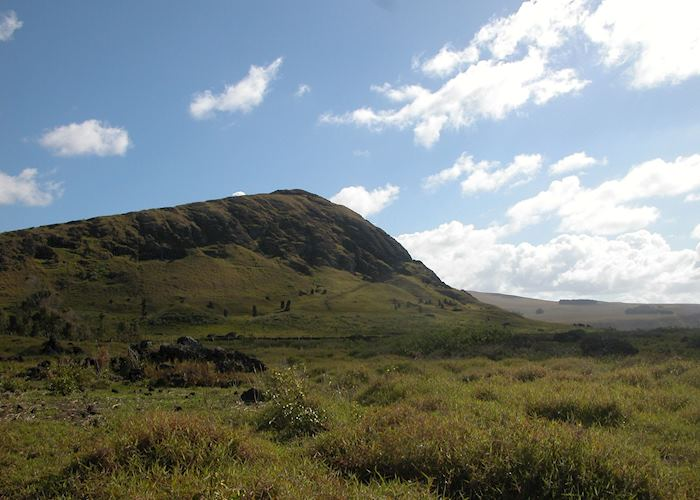 View of Rano Raraku, Easter Island