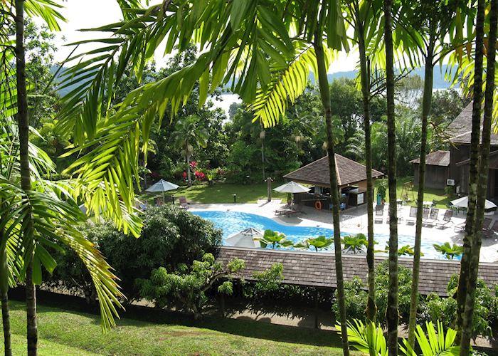 The pool at the Batang Ai Hilton, Batang Ai