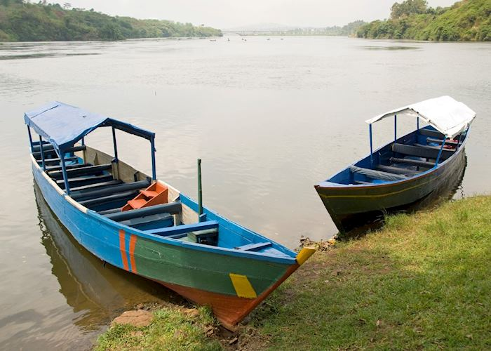 Two boats on the Nile, near Jinja