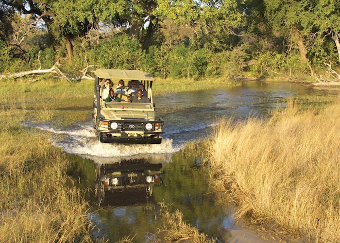 Game drive in the Nxabega Concession