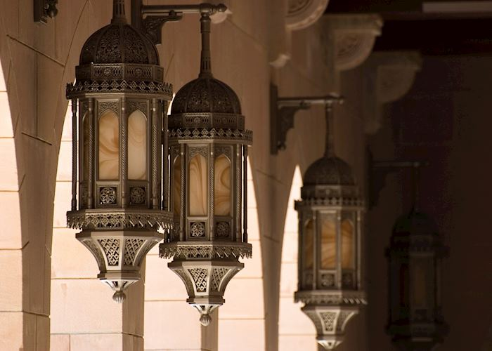 Lanterns at Sultan Qaboos Mosque, Oman