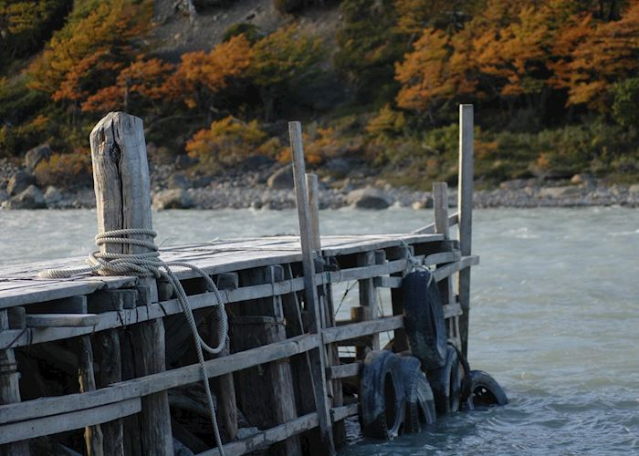 Dock at Hosteria Lago Grey, Torres del Paine National Park