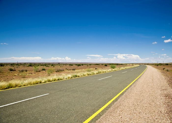 Namibia's roads have little traffic on them