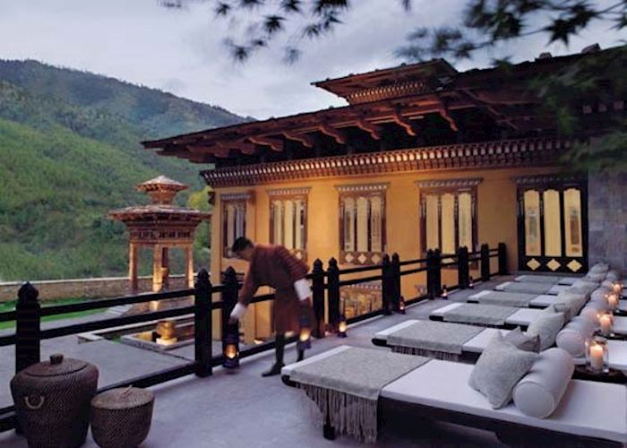 Outdoor Deck, Taj Tashi Hotel, Thimpu
