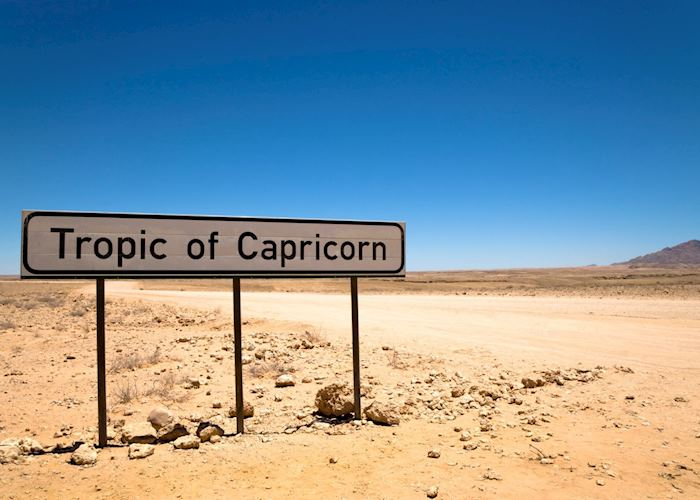 The Tropic of Capricorn crosses Southern Namibia