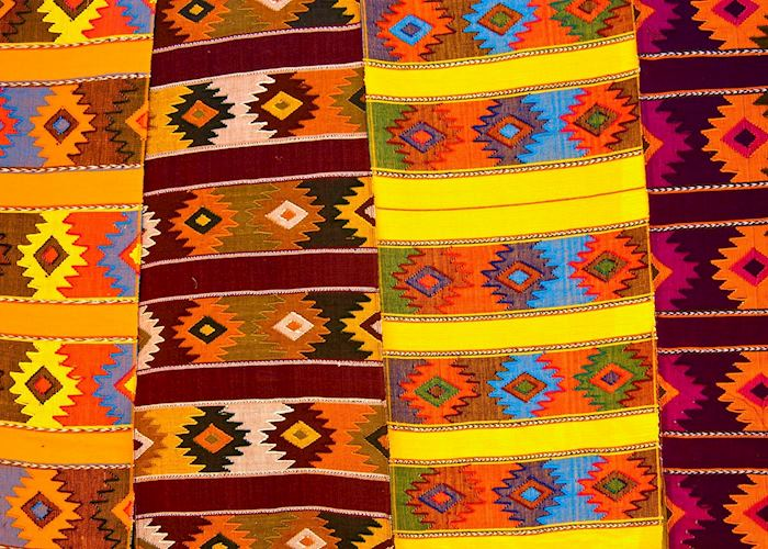 Colourful textiles, Oaxaca