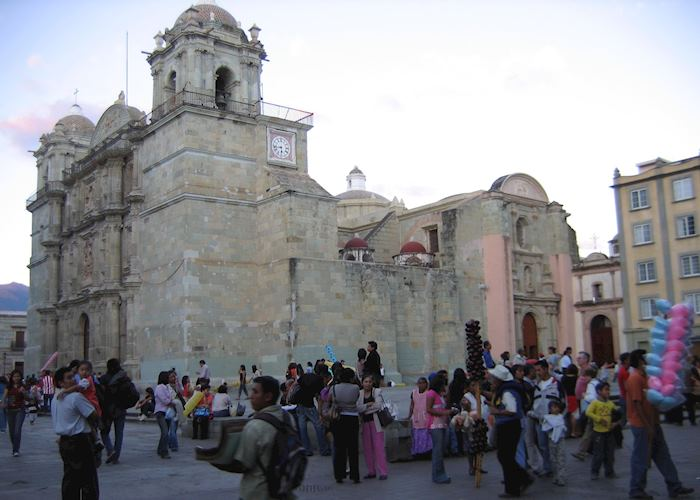 Oaxaca evening in the plaza