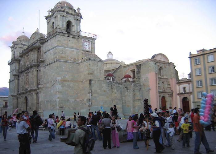Oaxaca evening in the plaza