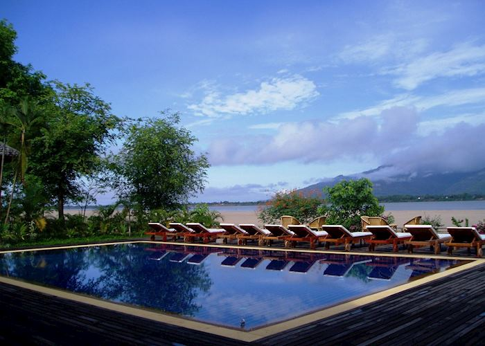 Pool, La Folie lodge, Champasak
