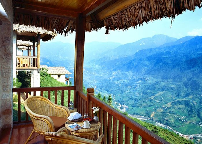 View from a bungalow, Topas Ecolodge, Sapa