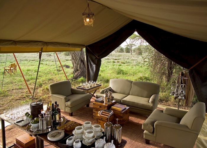 Lounge area, Serengeti Under Canvas