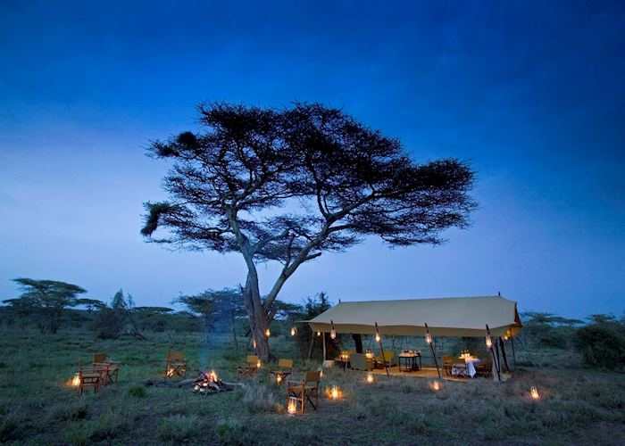Dinner at Serengeti Under Canvas