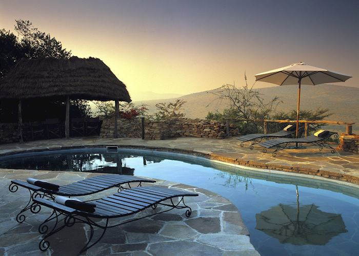 The pool at Klein's Camp, Serengeti National Park