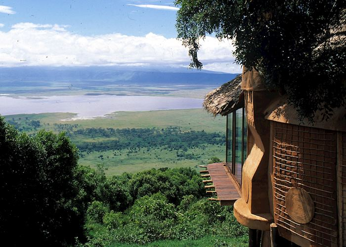 View from the Ngorongoro Crater Lodge
