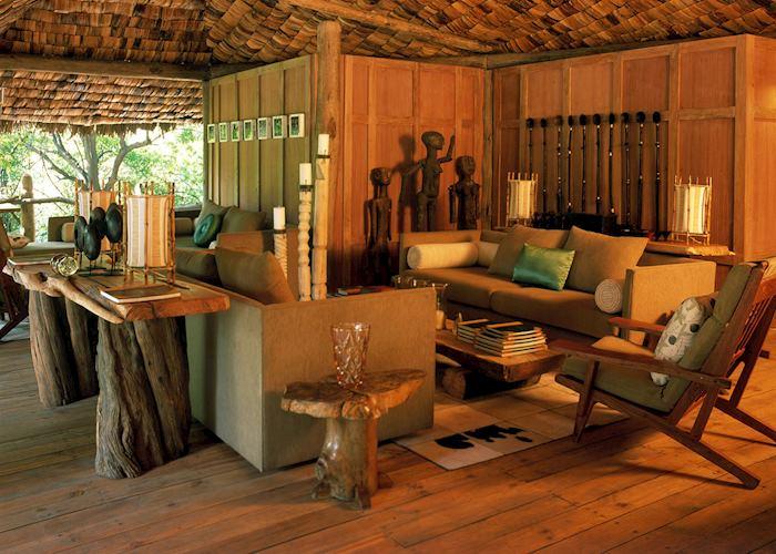 The lounge at Lake Manyara Tree Lodge