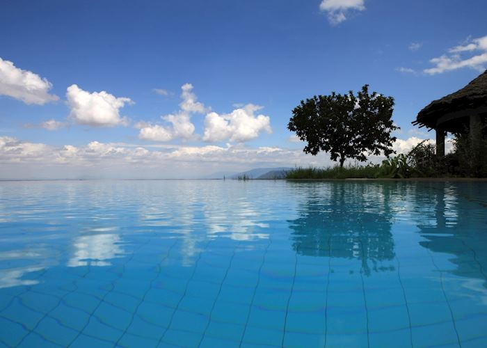 The pool at the Serena Hotel, Lake Manyara