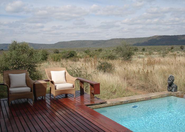 View from room, Mateya Safari Lodge