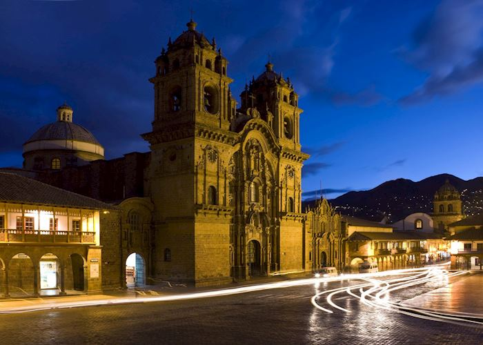 Plaza de Armas Cuzco by night