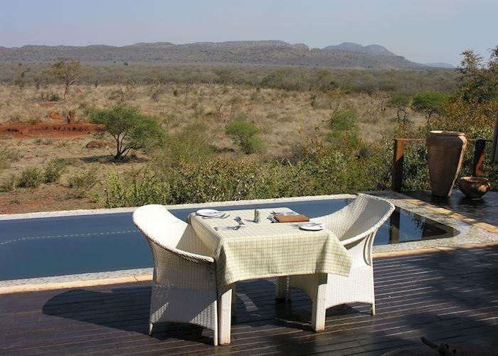 Deck area at Madikwe Hills Game Lodge