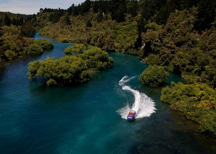 Huka Falls jet boat excursion, Lake Taupo