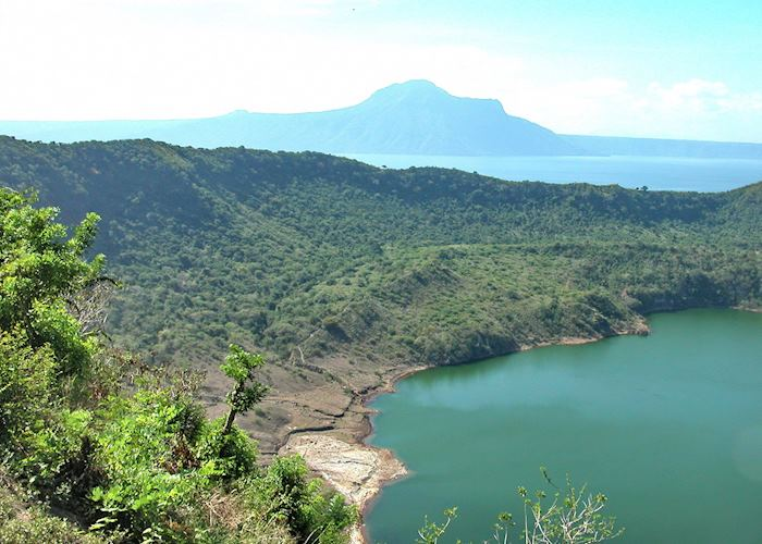 View across the Taal Volcano crater and the surrounding lake, Luzon, Philippines