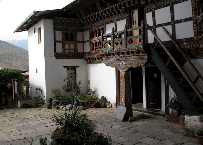 Courtyard, Gangtey Palace, Paro