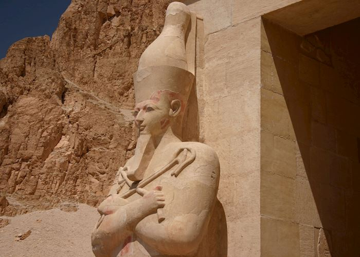 Statue of Hatshepsut at her temple, West Bank at Luxor