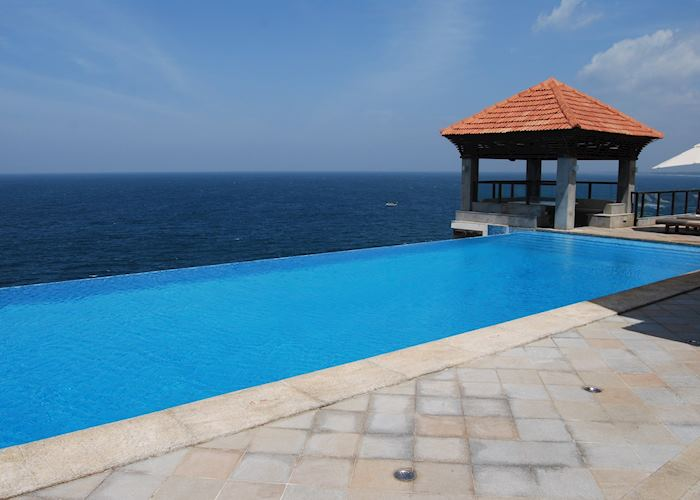 Infinity Pool at The Club, The Leela, Kovalam
