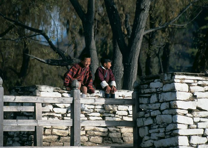 Local children, Bumthang valley
