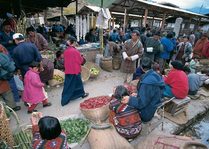 Weekend market, Thimphu