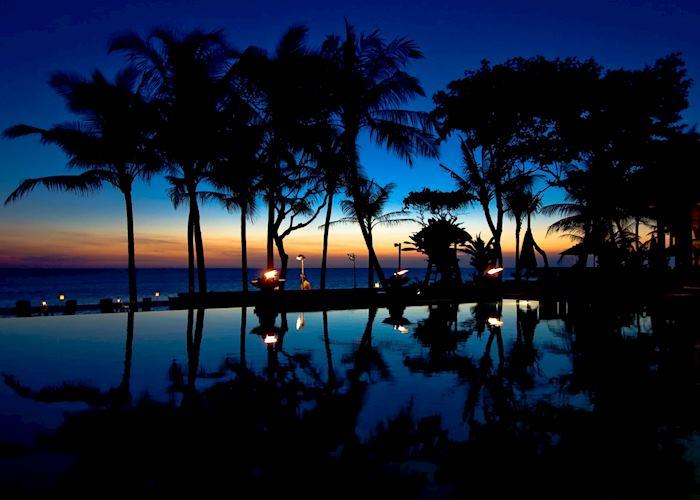 Legian Pool at night, The Legian Bali, Seminyak