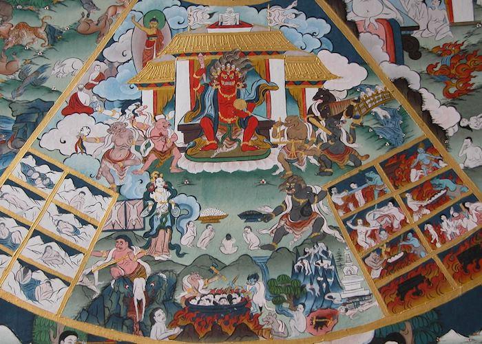 Painting, Paro Dzong