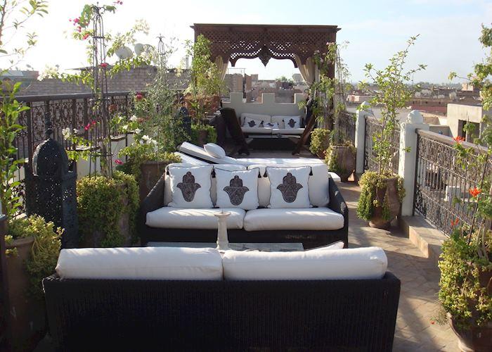 Roof terrace at Riad Assakina, Marrakesh