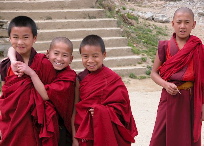 Boy monks, Thimphu