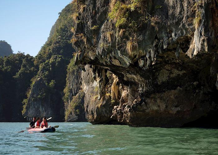 Phang Nga Bay is perfect for kayaking
