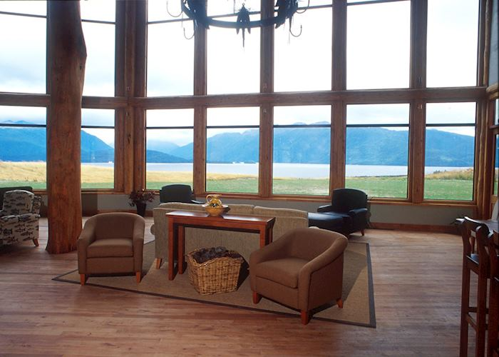 View from the sitting room at Fiordland Lodge, Te Anau