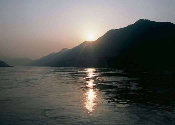 Sunset in the Qutang Gorge