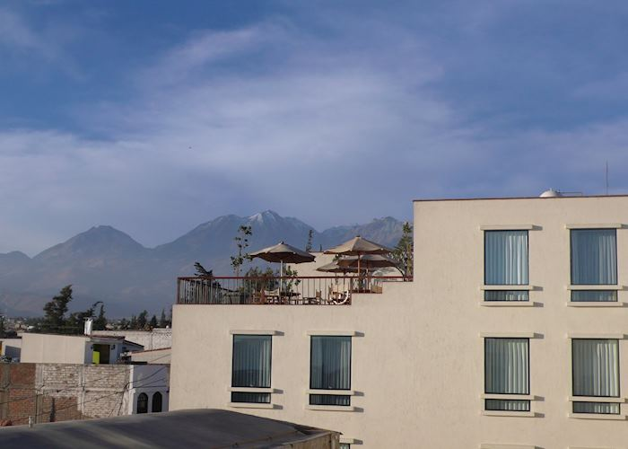 Casa Andina Private Collection, Arequipa with Chachani in the background