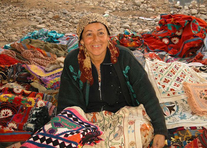 Cloth Trader, Urgut Market, Uzbekistan