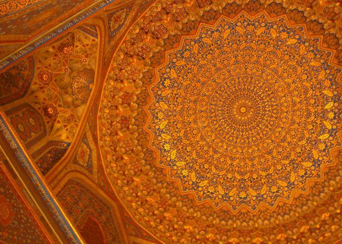 Ceiling Detail, Gur Amir Mausoleum, Samarkand, Uzbekistan