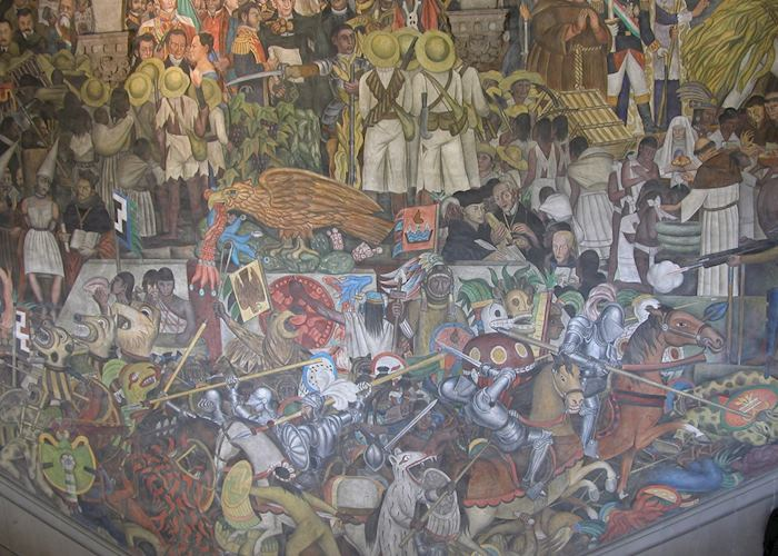 Diego Rivera Murals of the National Palace, Zocalo, Mexico City