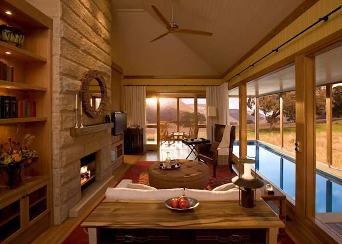 Wolgan Suite Living Area, Wolgan Valley Resort & Spa, Blue Mountains