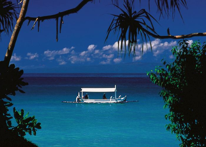 Azure blue waters in Indonesia