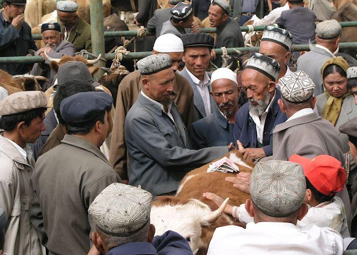 Livestock market, Kashgar