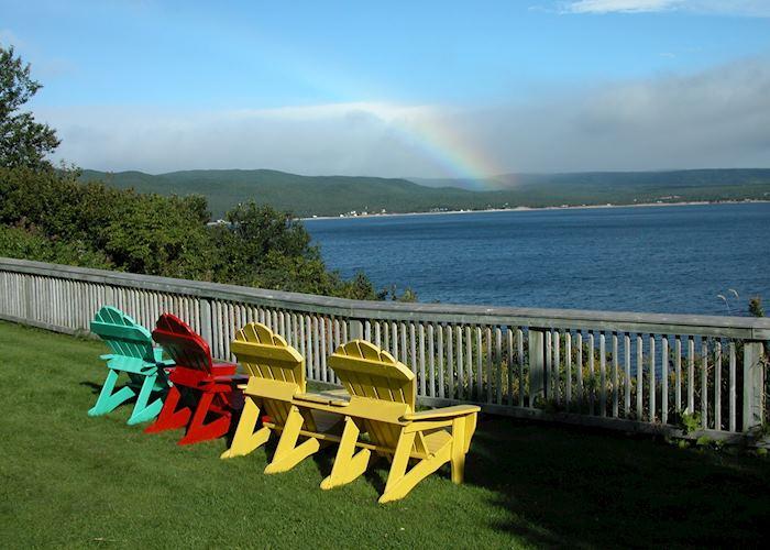 Deck chairs at Ingonish, Nova Scotia